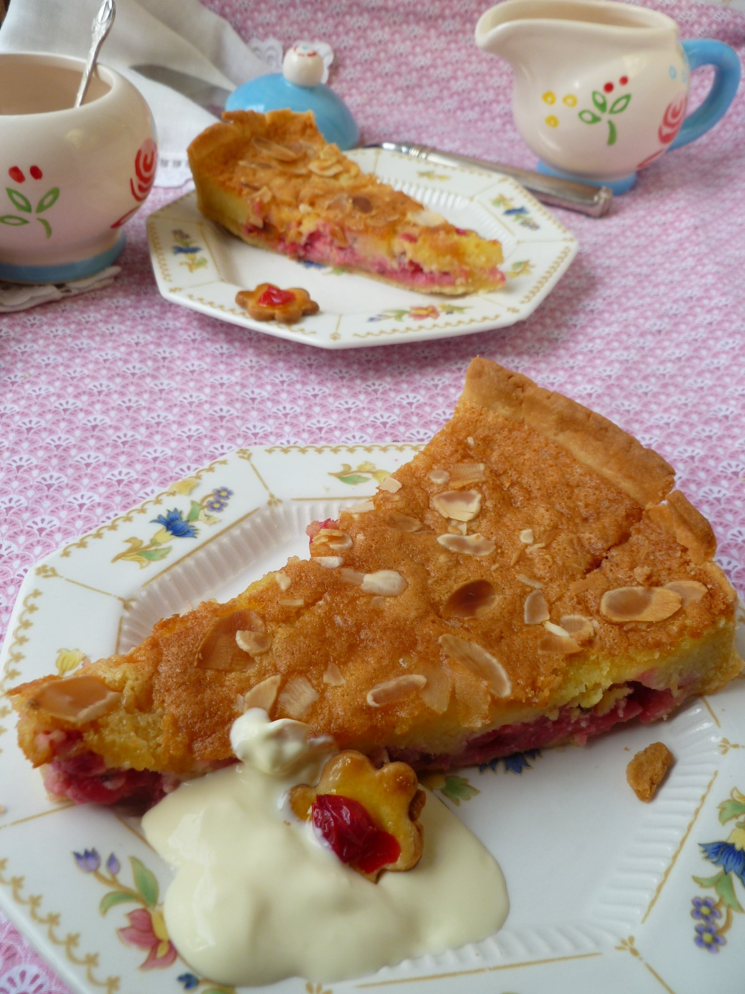 Fresh Redcurrant Tart with Shortbread Crust