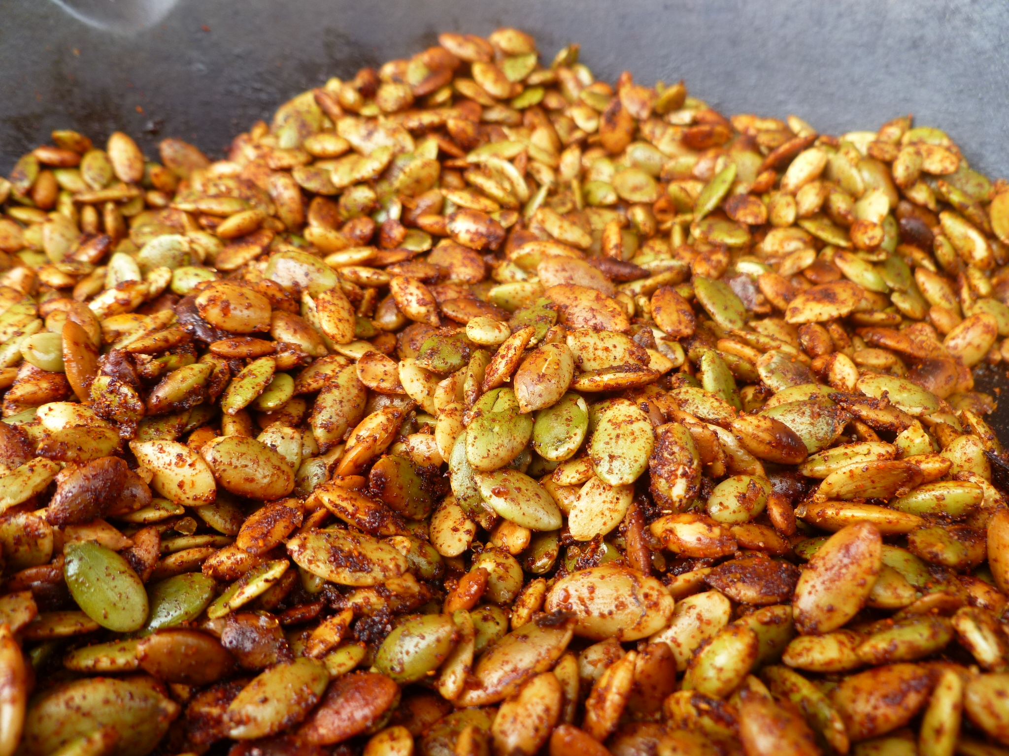 Pumpkin Seeds ~ Chili-roasted | diplomatickitchen