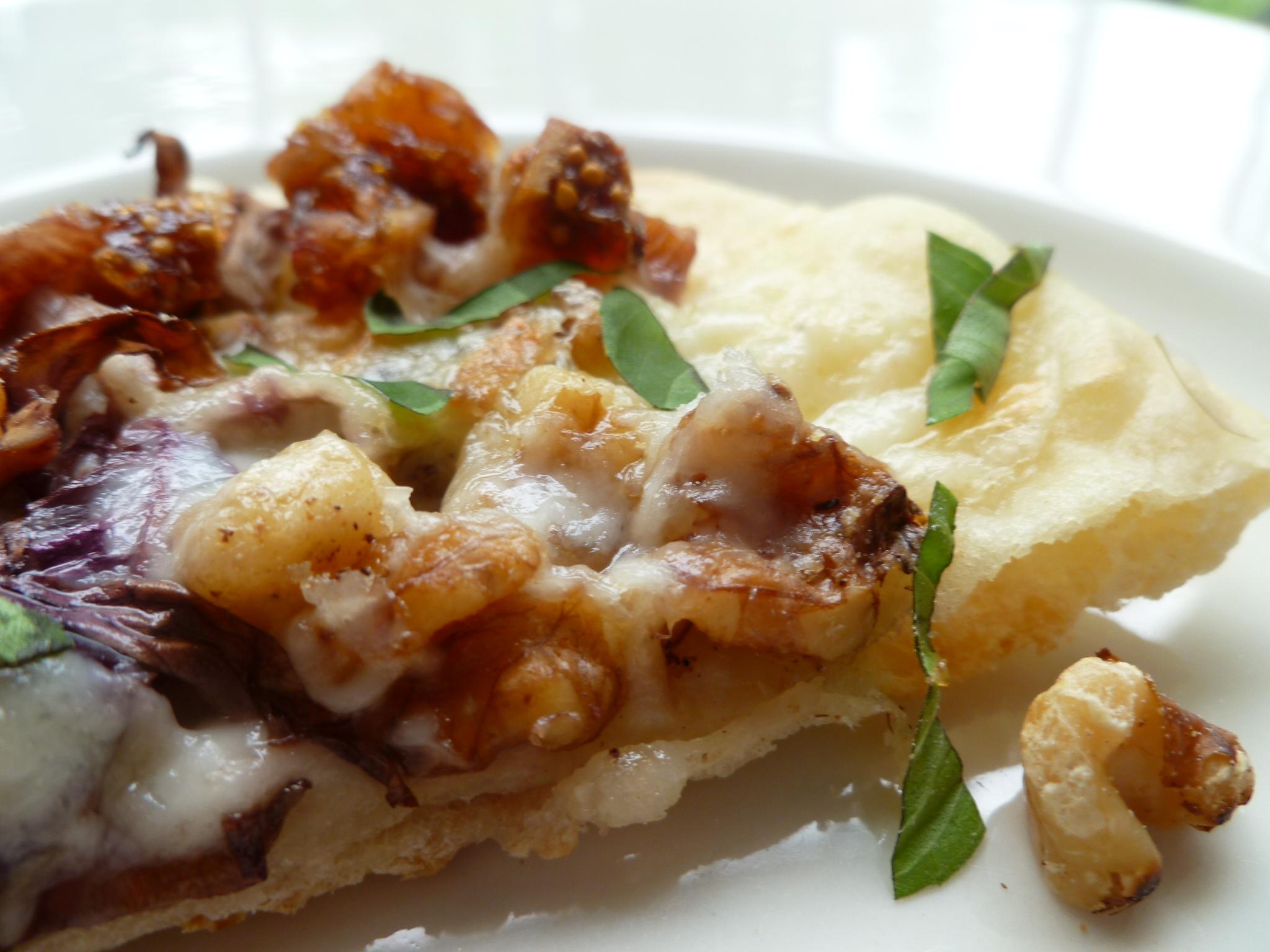 Pizza Rounds with Figs, Raddichio, Walnuts, and Tallegio ...