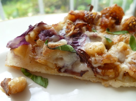 Pizza Rounds with Figs, Raddichio, Walnuts, and Tallegio Cheese ...