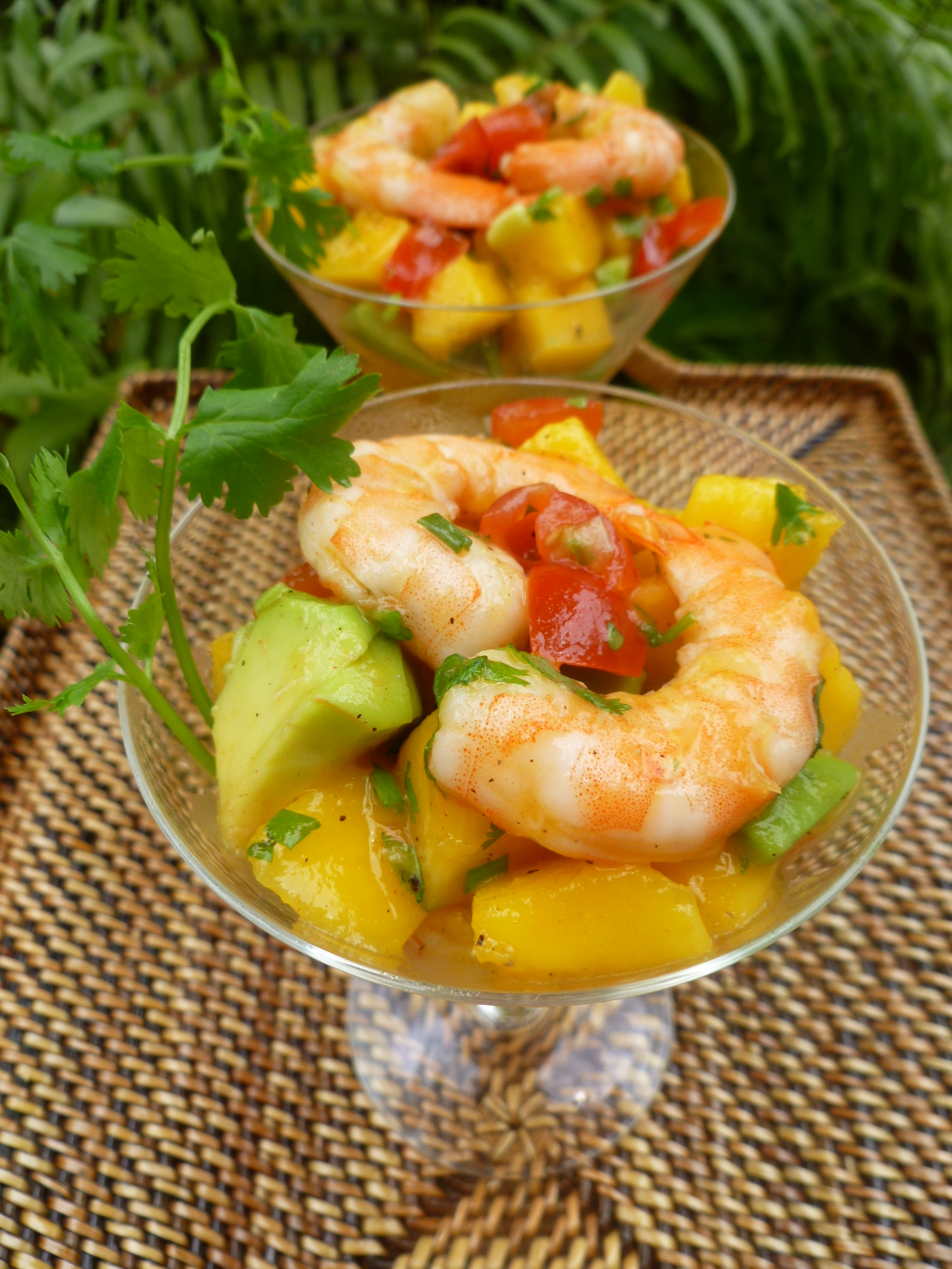 Shrimp, Avocado and Mango Cocktails   diplomatickitchen