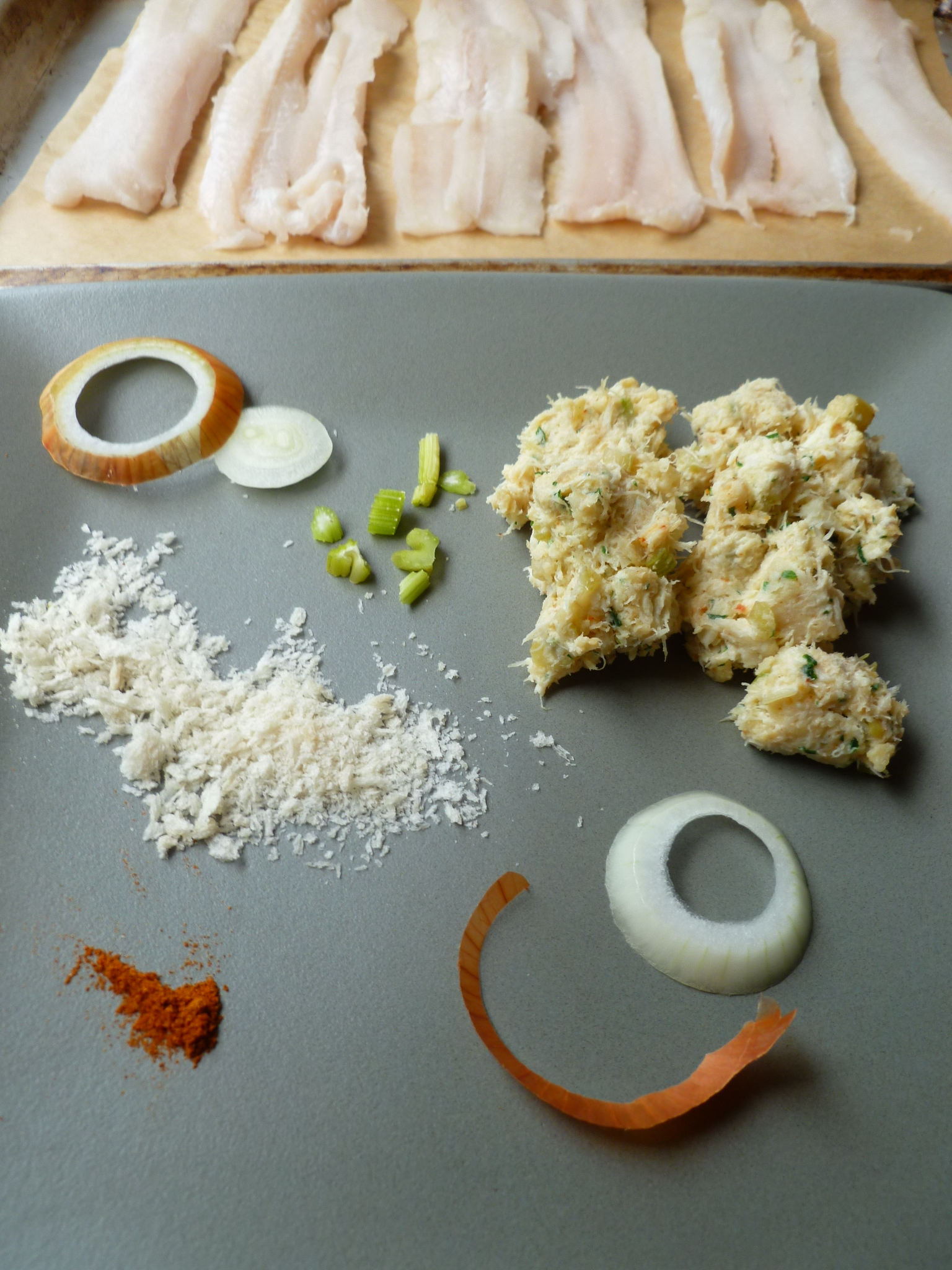 Crab-Stuffed Sole with Green Onion Tabasco Sauce | diplomatickitchen
