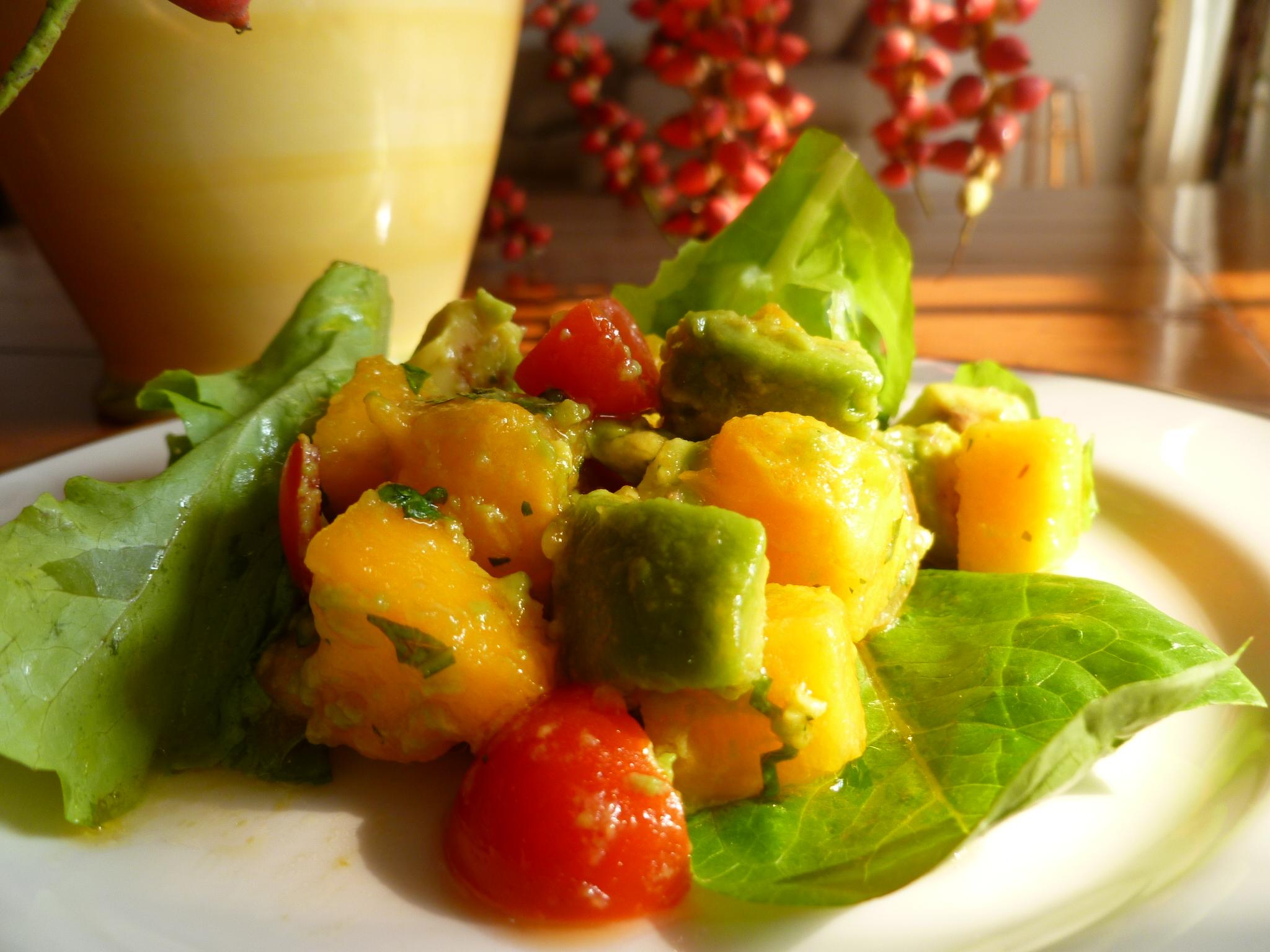 Avocado and Papaya Salad with Louisiana Hot Sauce Marinade ...