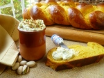 pumpkin challah finish and pstachio spread all 025