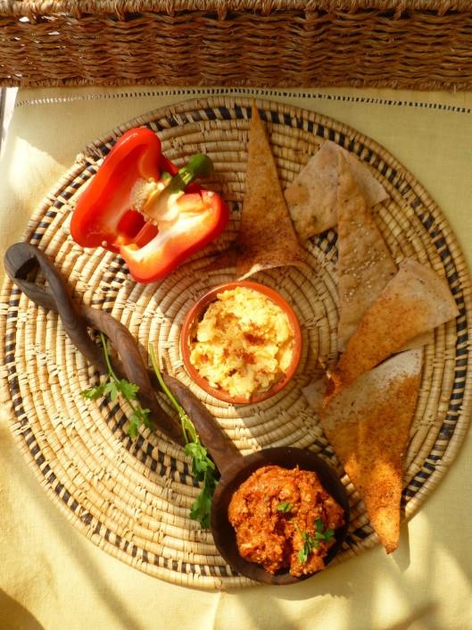 edam spread and roast pepper spread 004