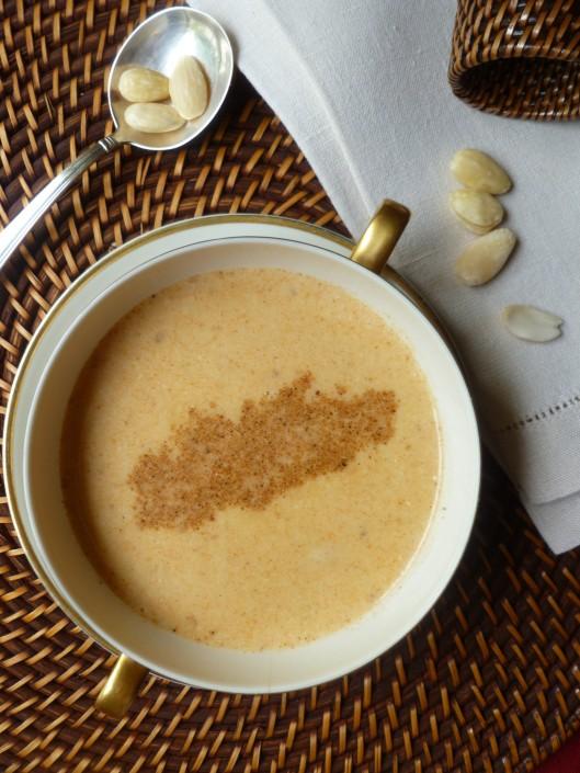 spiced almond soup madewith homemadestock 015