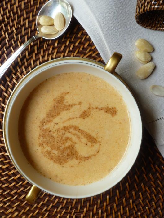 spiced almond soup madewith homemadestock 018