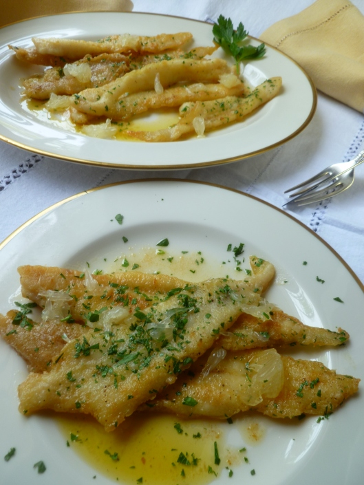 strawhaymushroomprosciuttopasta sole eith lemon butter sauce 053