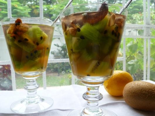 Verrines of Kiwi PassionFruit Lemonade all 092