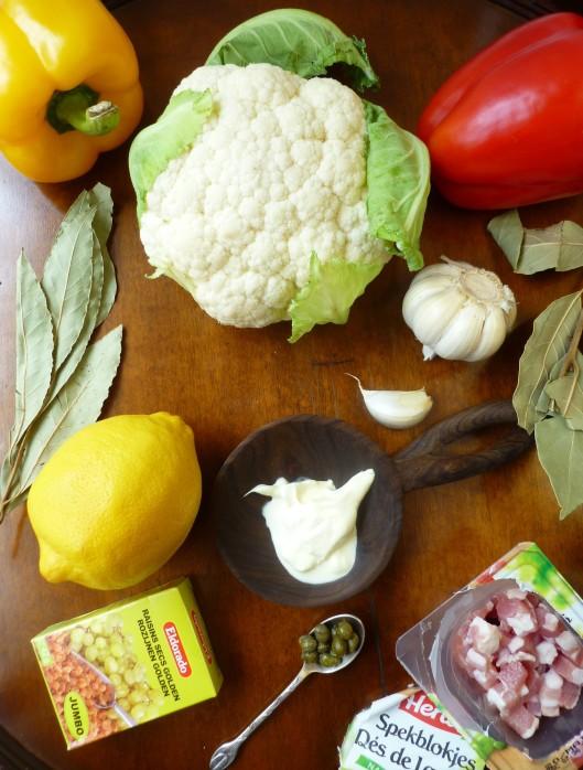 italiancauliflower baconcapers cream 005