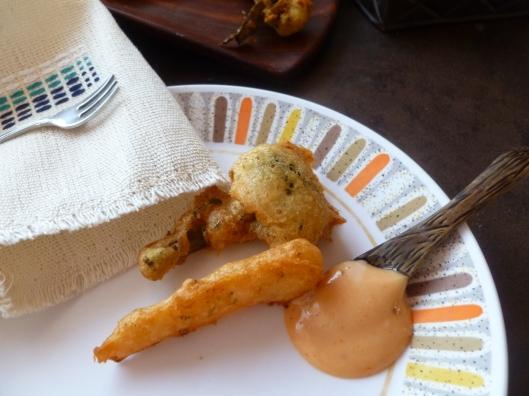 sauce amora beerbatter carrotsand brocoli 016