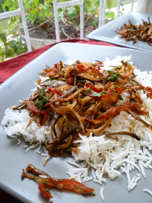 gombo chaat masala and eggplant fries finished 012