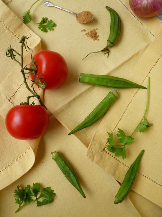 okra chaat masala ingredients 009