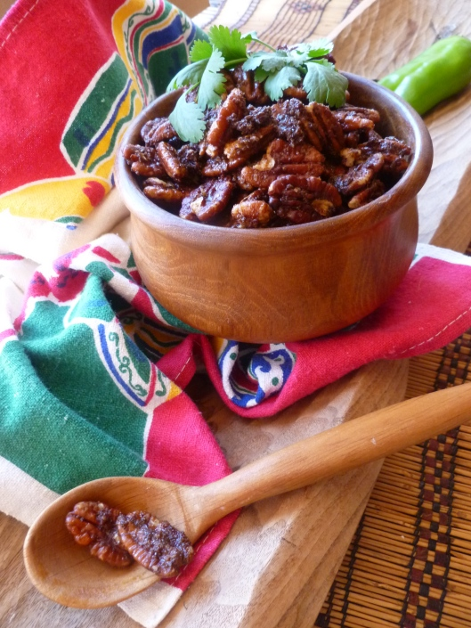 warm southwestern spiced pecans all 007