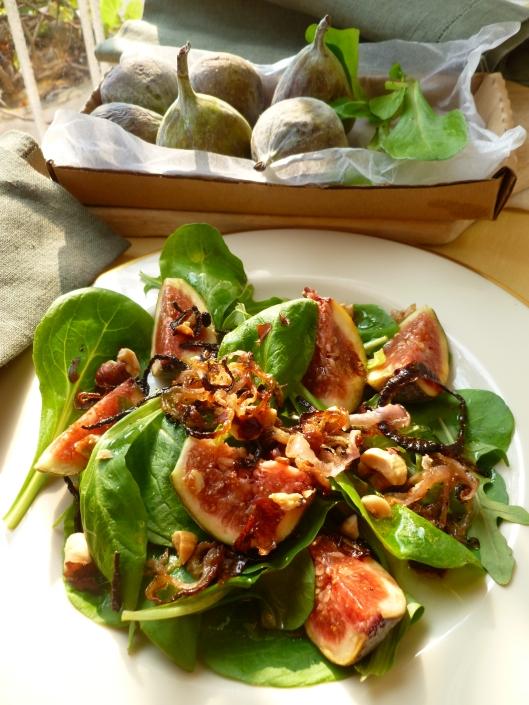 Roasted Shallot and Fresh Fig Salad